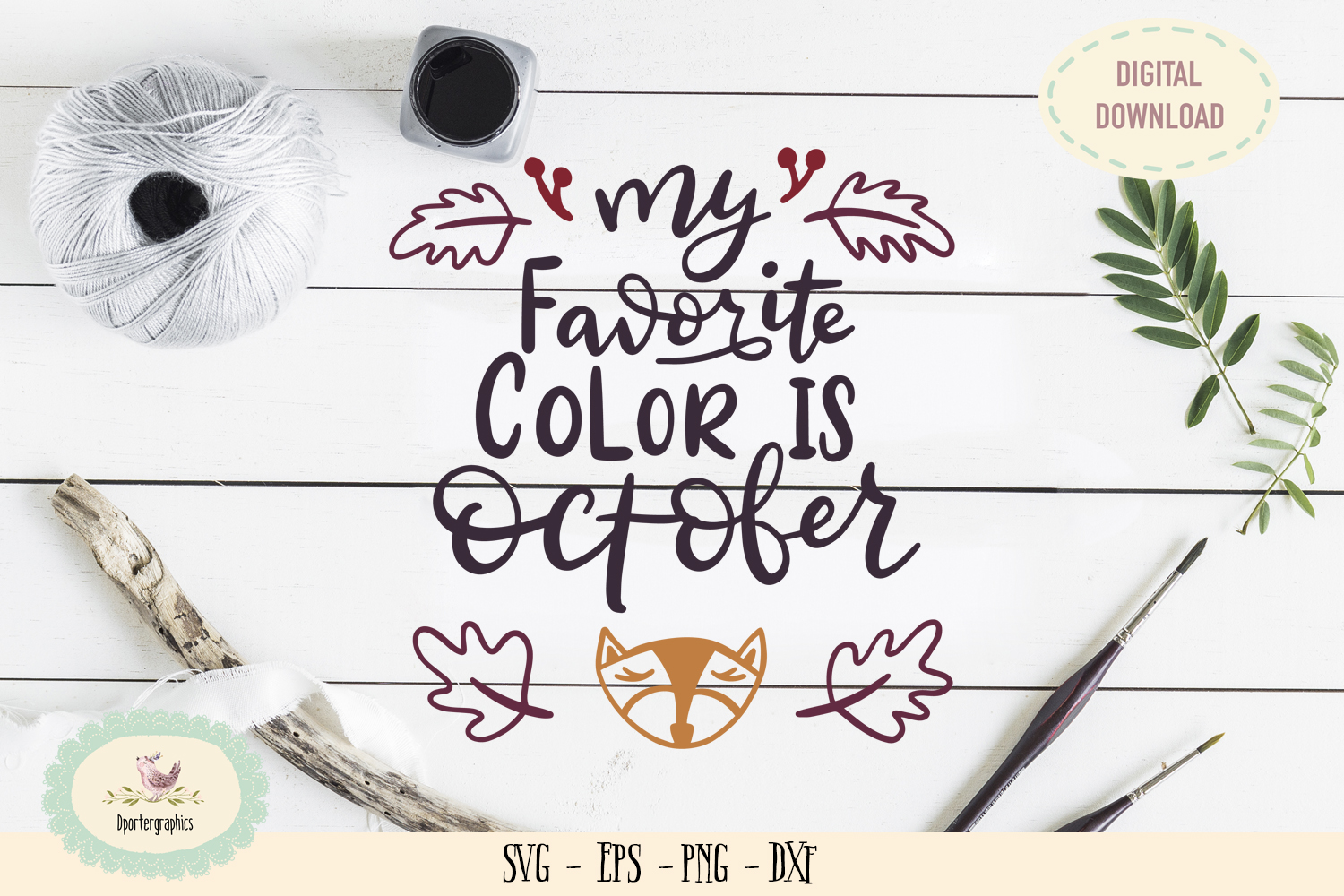 My favorite color is october SVG PNG fall season example image 1