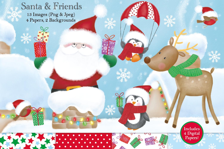 Christmas clipart, Christmas graphics & illustrations, Santa example image 1
