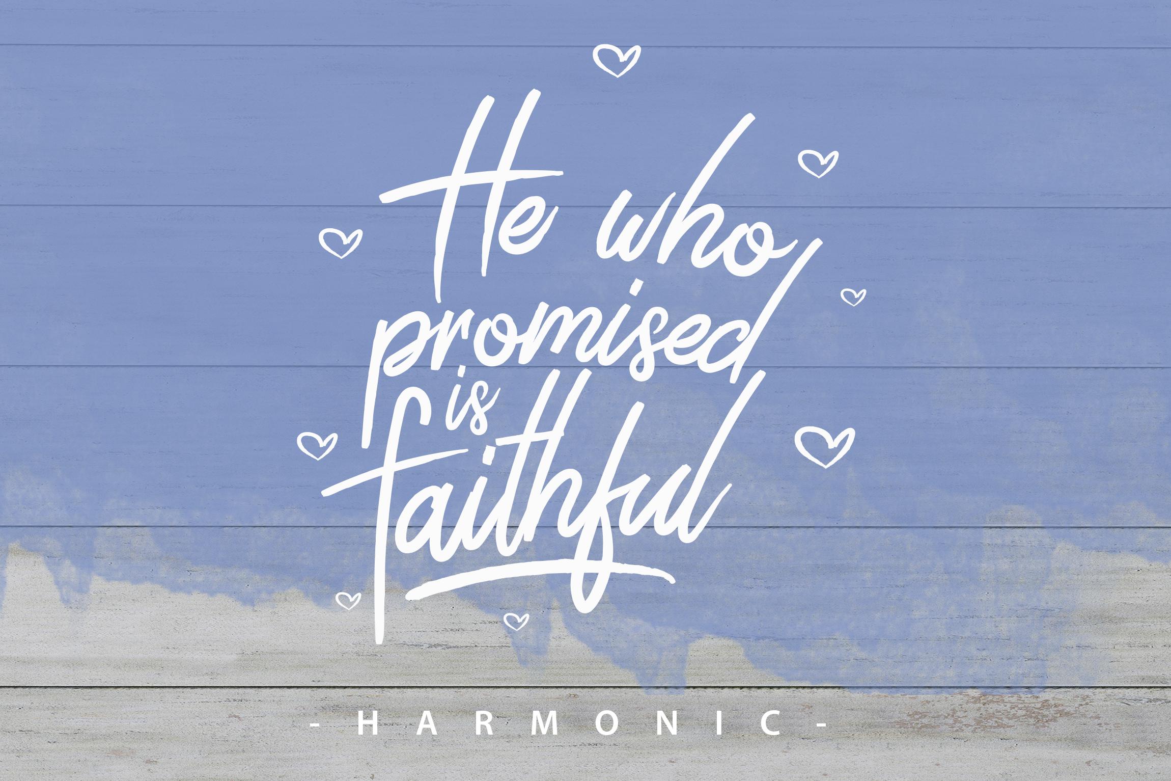 Harmonic Script example image 1