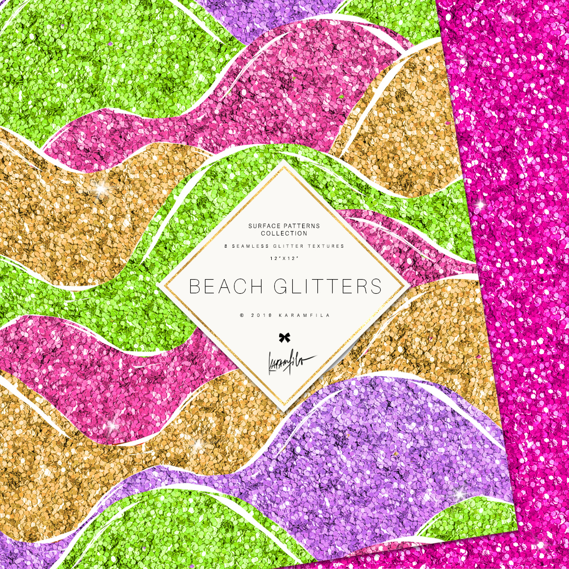 Glitter Waves Patterns example image 4