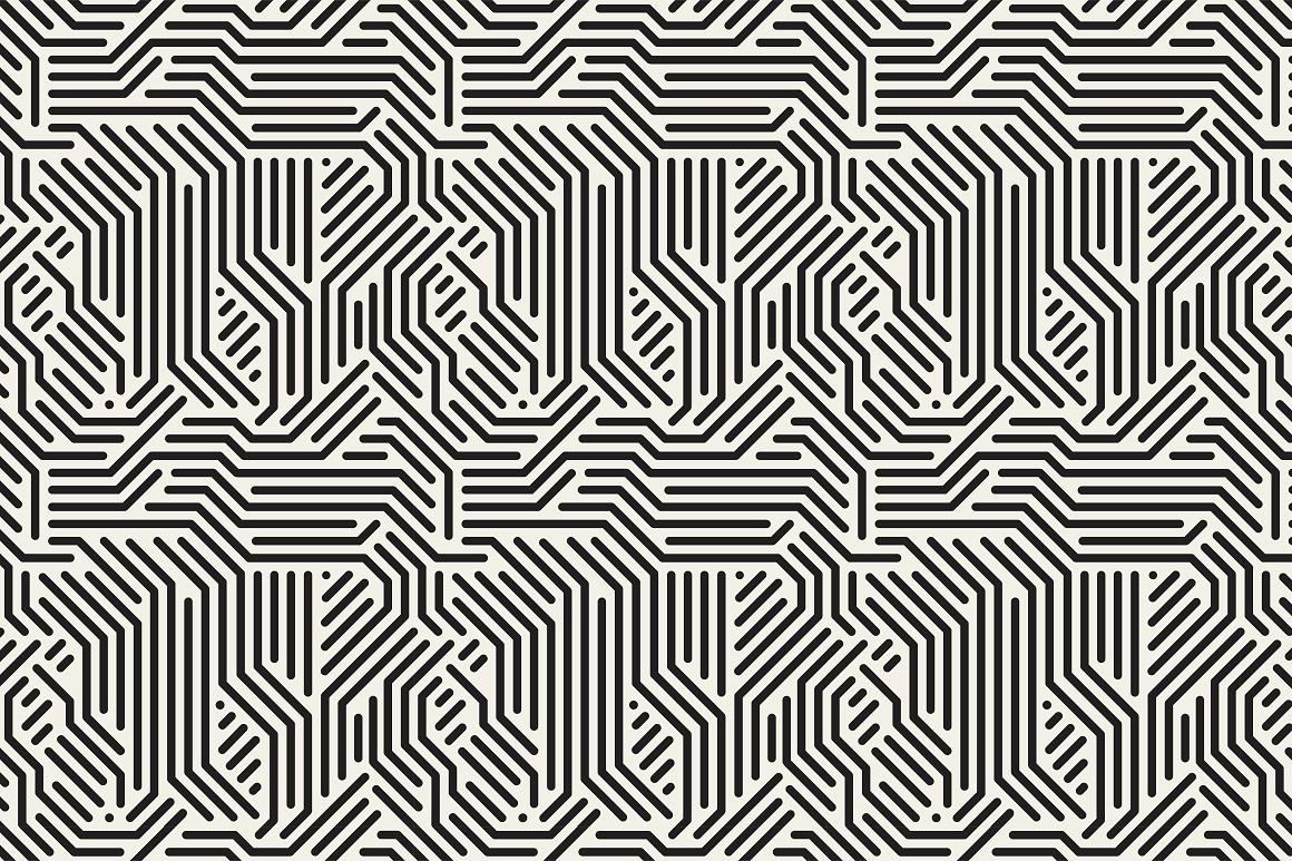 Seamless striped geometric patterns example image 9