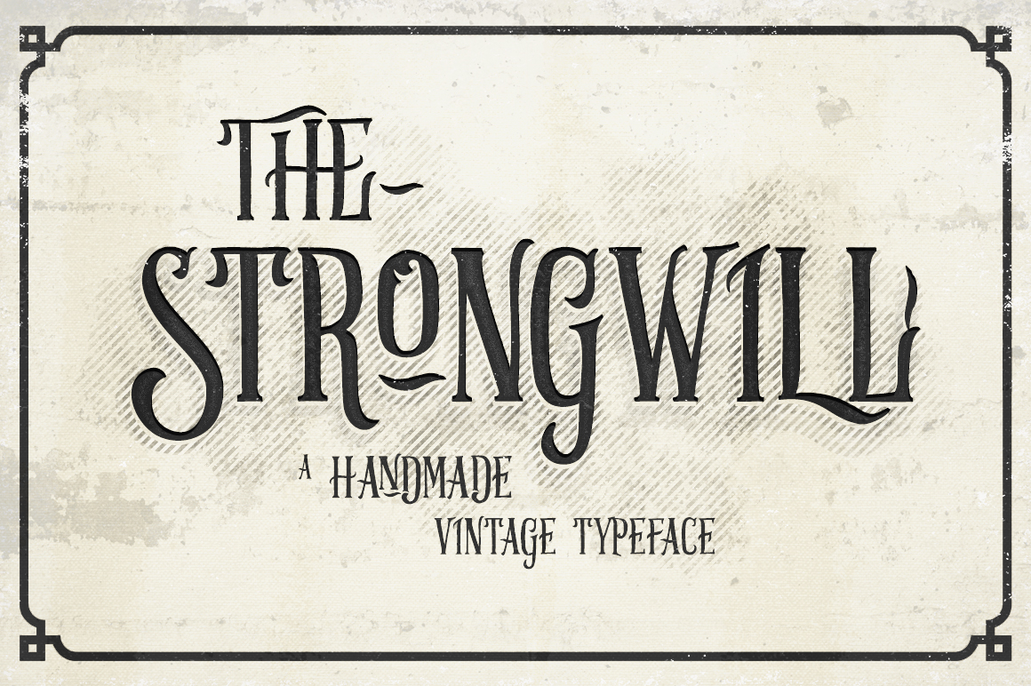 Strongwill Typeface example image 1