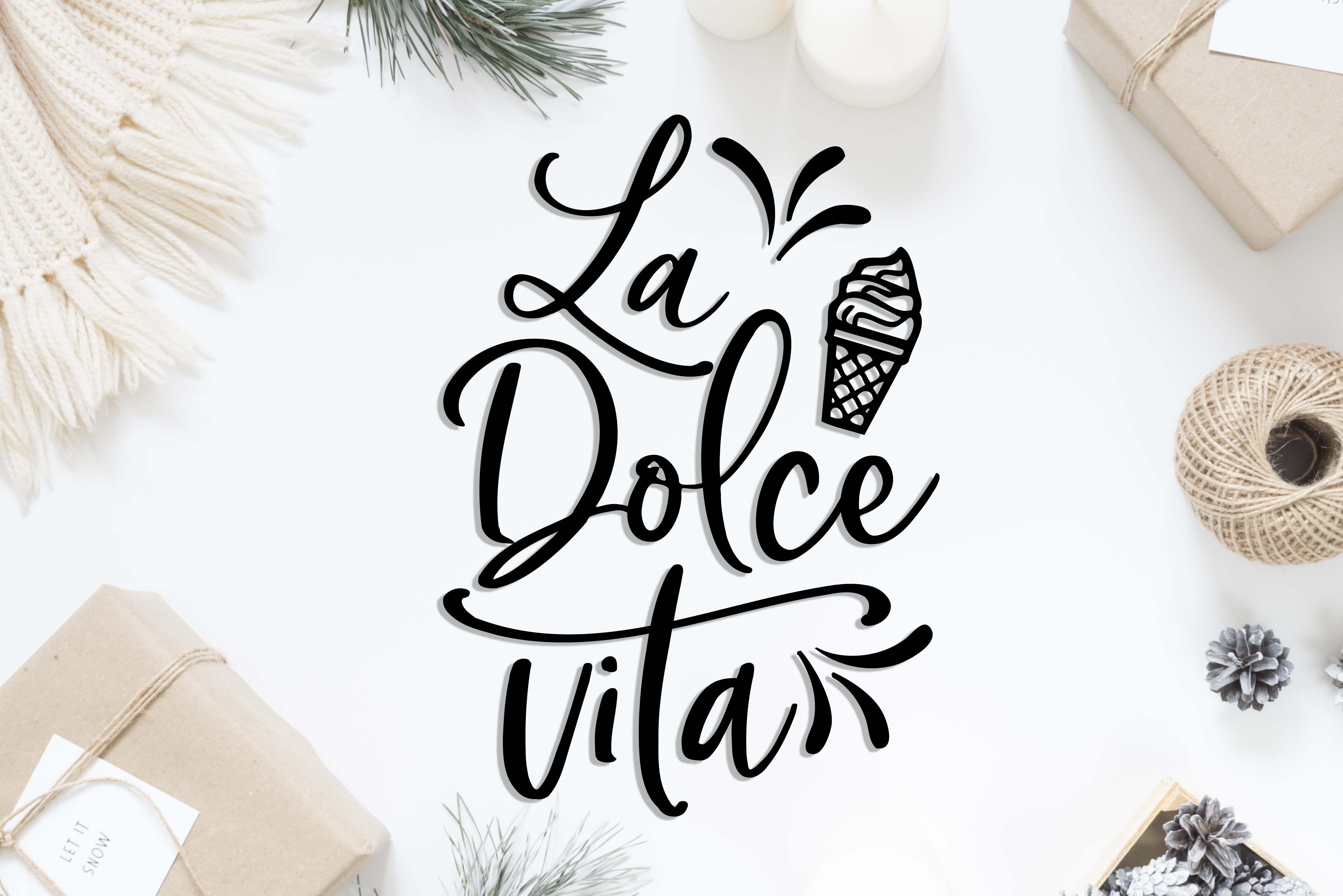 La Dolce Vita SVG DXF PNG EPS example image 2