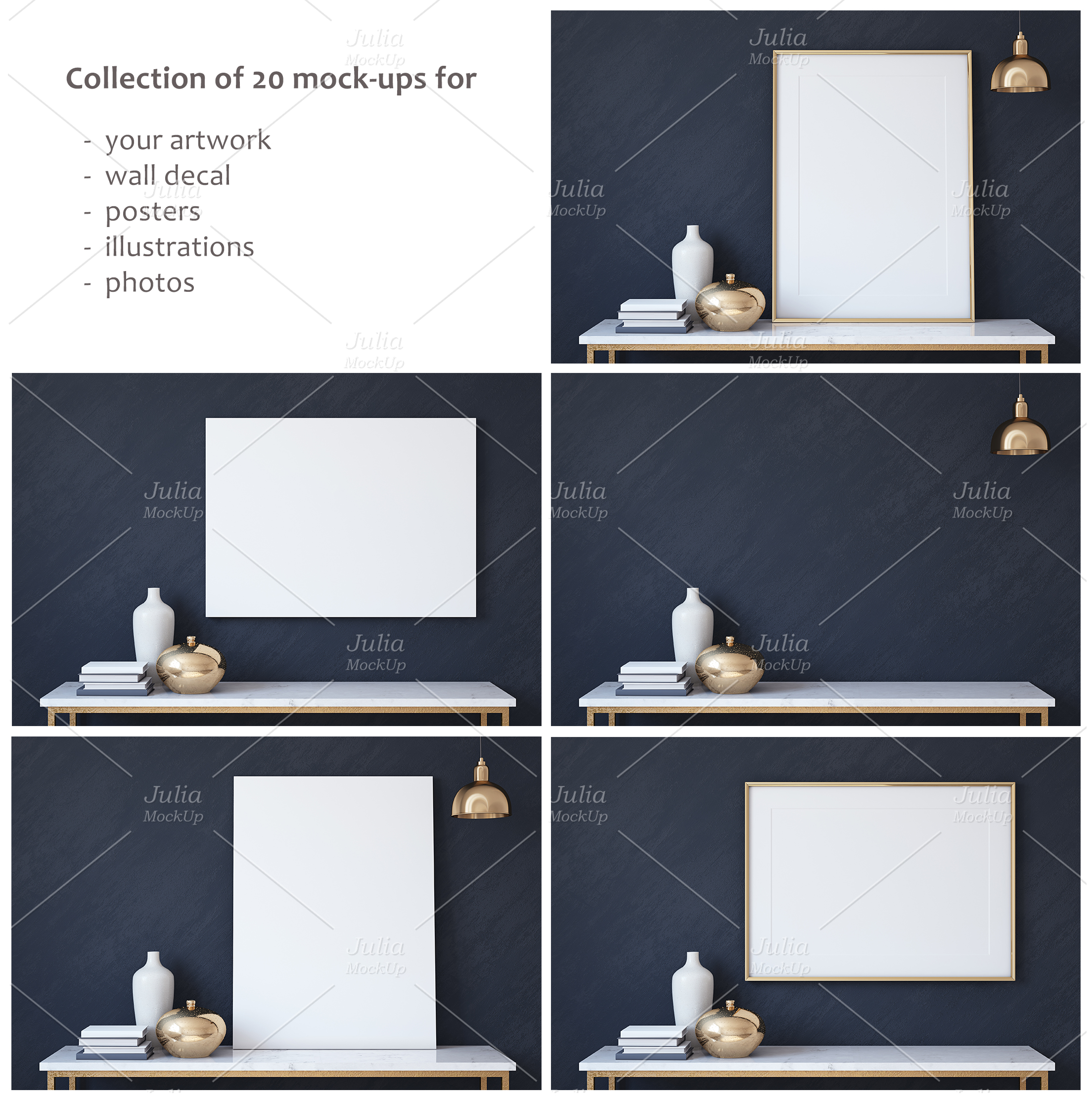 Frame&Canvas&Wall Decal Mock-ups. example image 2