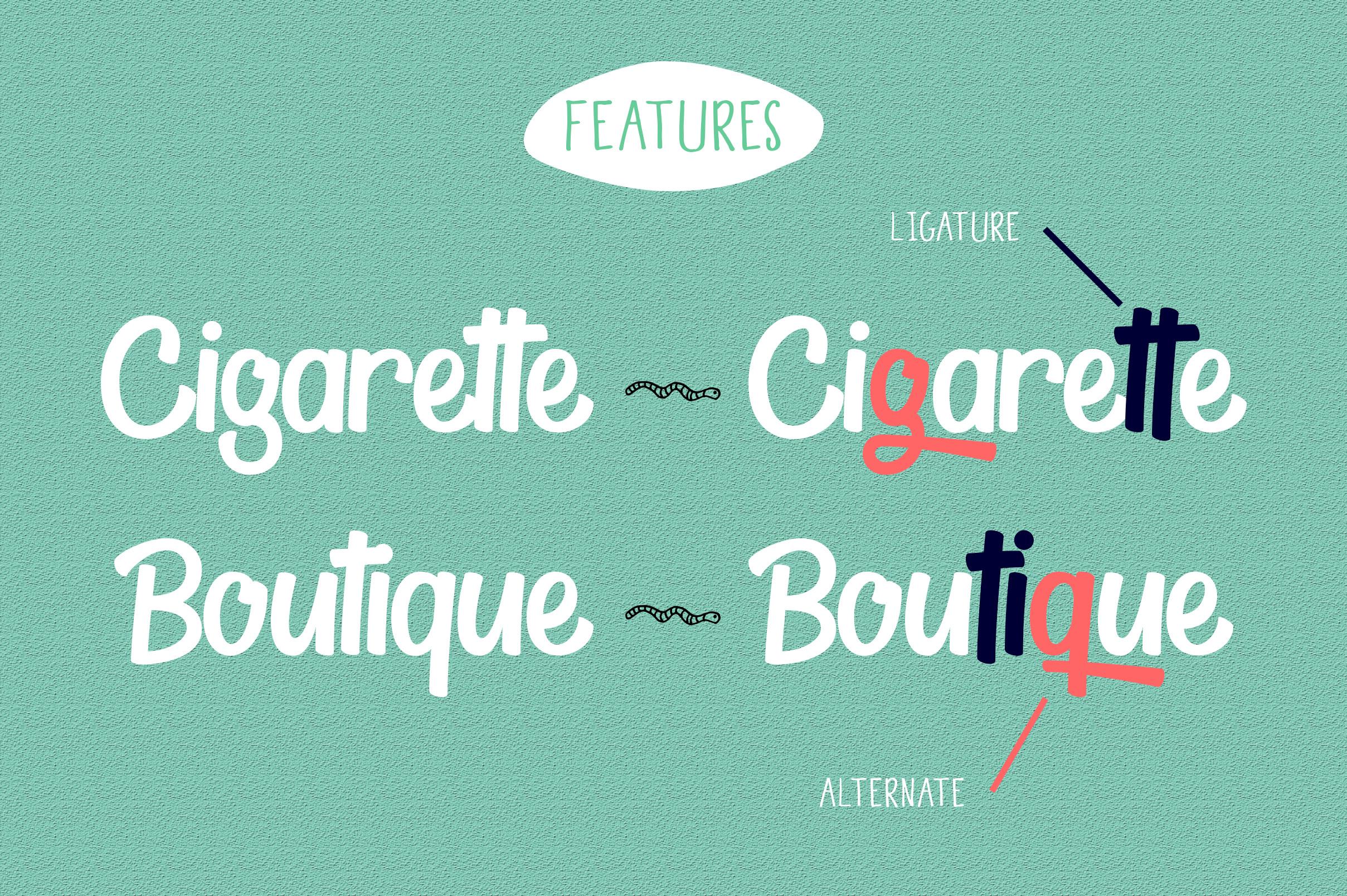 Thyeena Fonts & Illustration example image 9