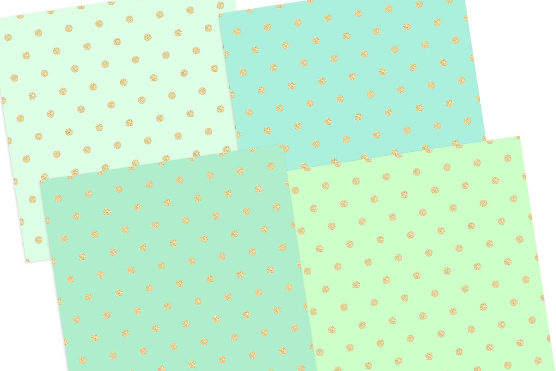 Gold Pastel Polka Dot Pattern Digital Papers example image 3