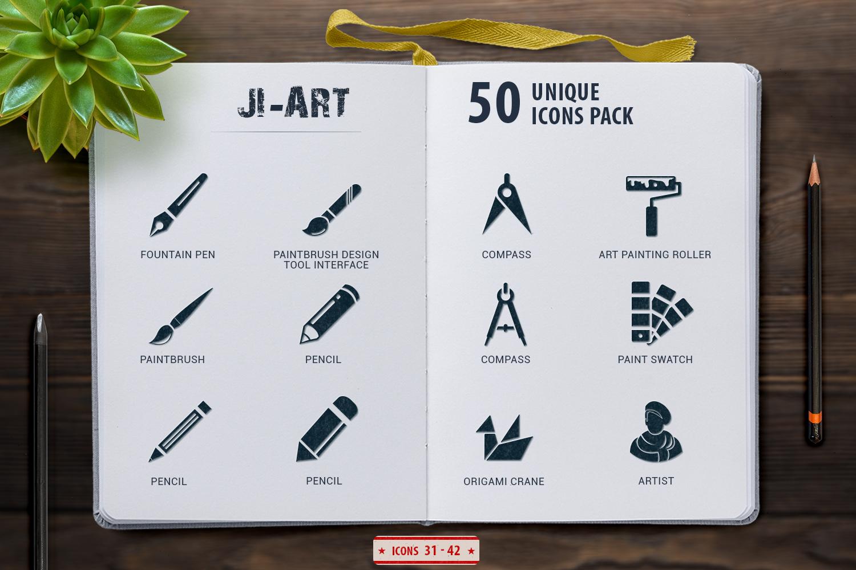 Glyph Art Icons Set example image 2