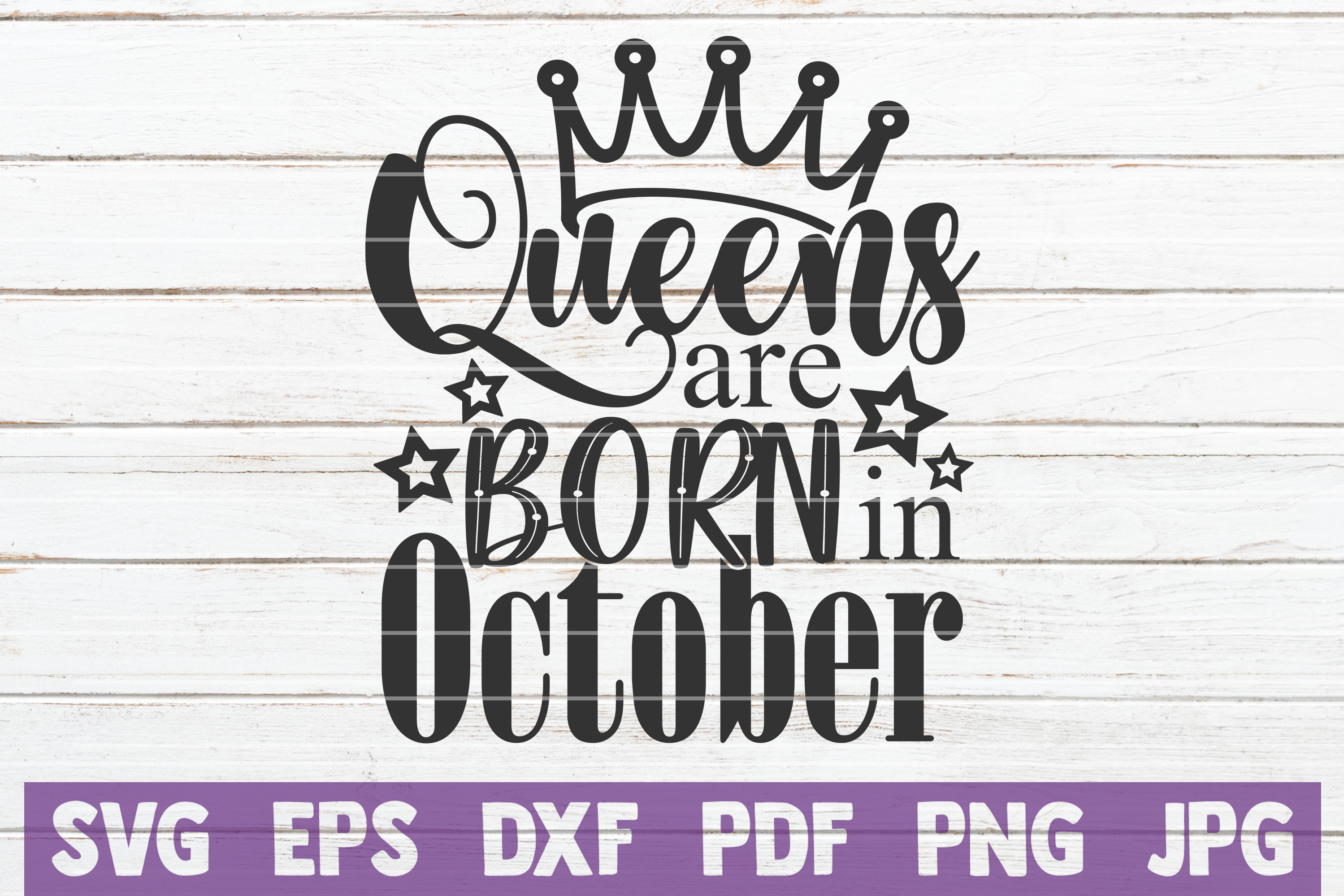 Queens Are Born In ... SVG Bundle | Birthday girl Cut Files example image 12