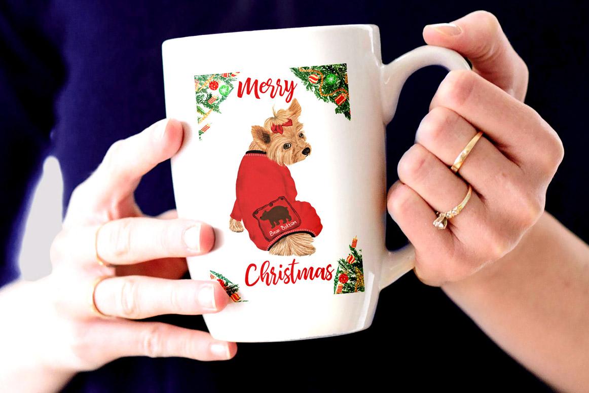 Watercolor Christmas Family Clipart Christmas Mug designs example image 5