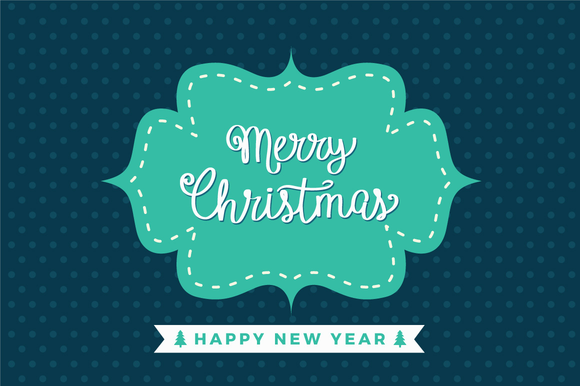 Merry Christmas and New Year greeting card example image 1