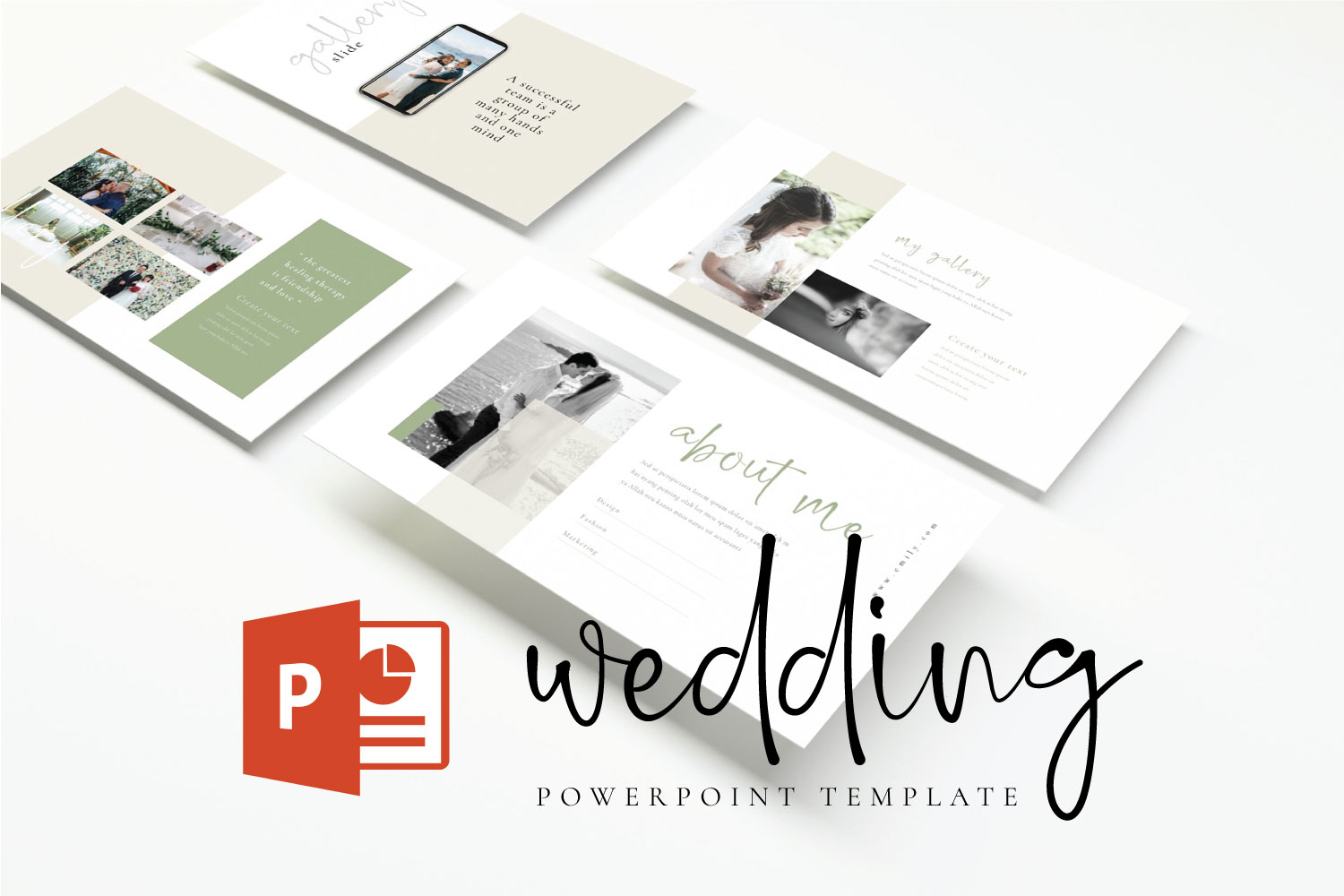 Wedding Powerpoint template example image 1