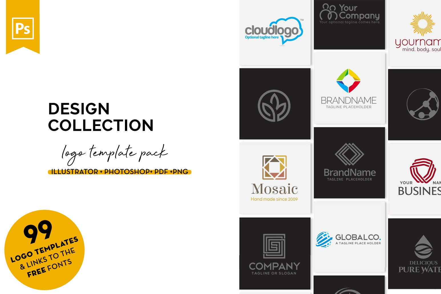99 Logo Designs Collection Pack example image 1