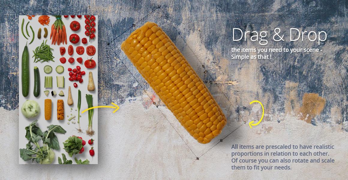 Veggies - Isolated Food Items example image 4
