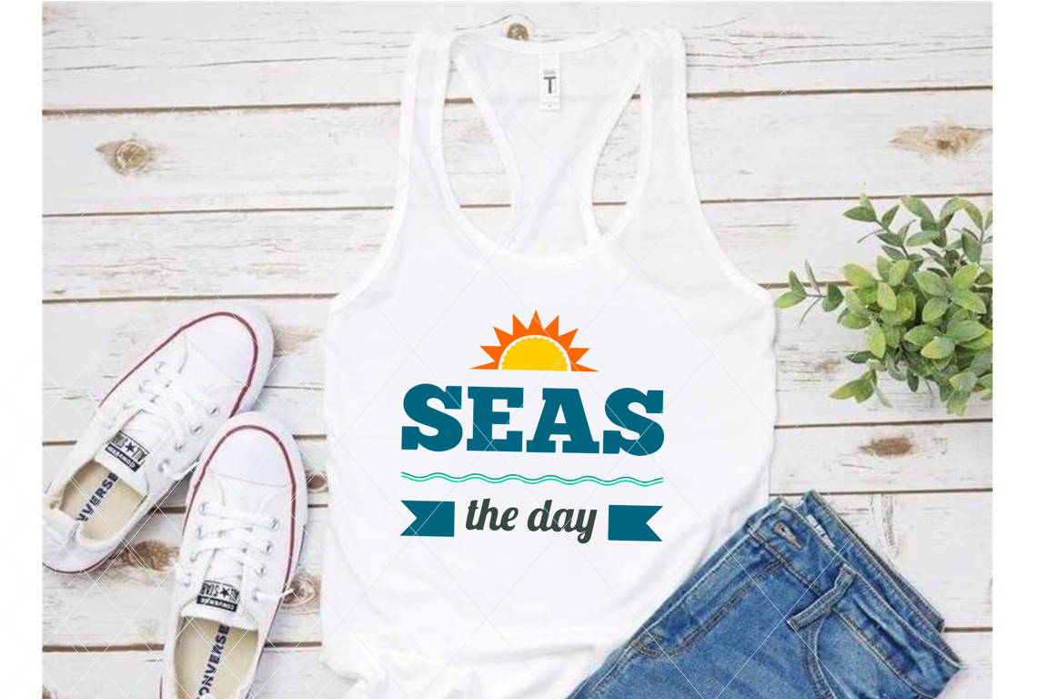 Seas the day svg, summer svg, beach svg, beach mode svg example image 1
