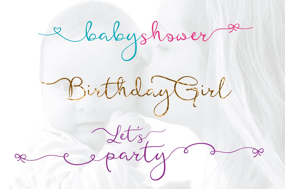 Featherly Bold Font - wedding font example image 7