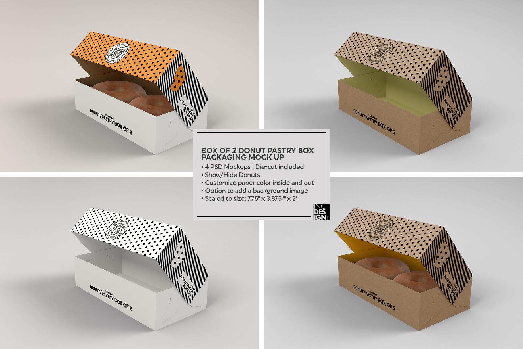VOL.11 Food Box Packaging MockUps example image 12