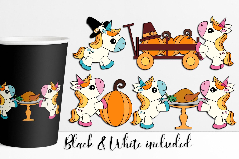 Thanksgiving Unicorn Illustrations example image 1
