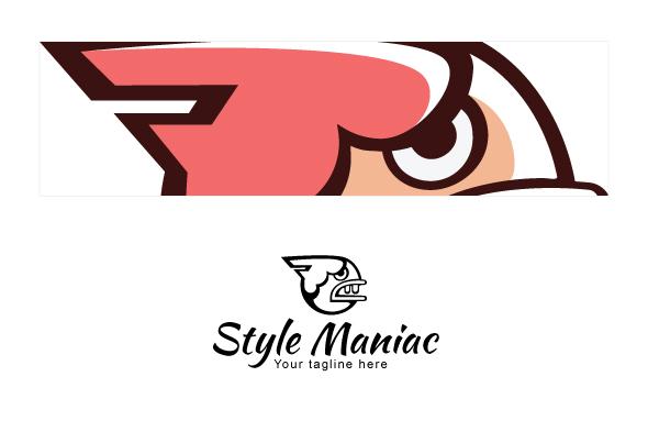 Style Maniac - Illustrative Comic Aggressive Face Stock Logo example image 3