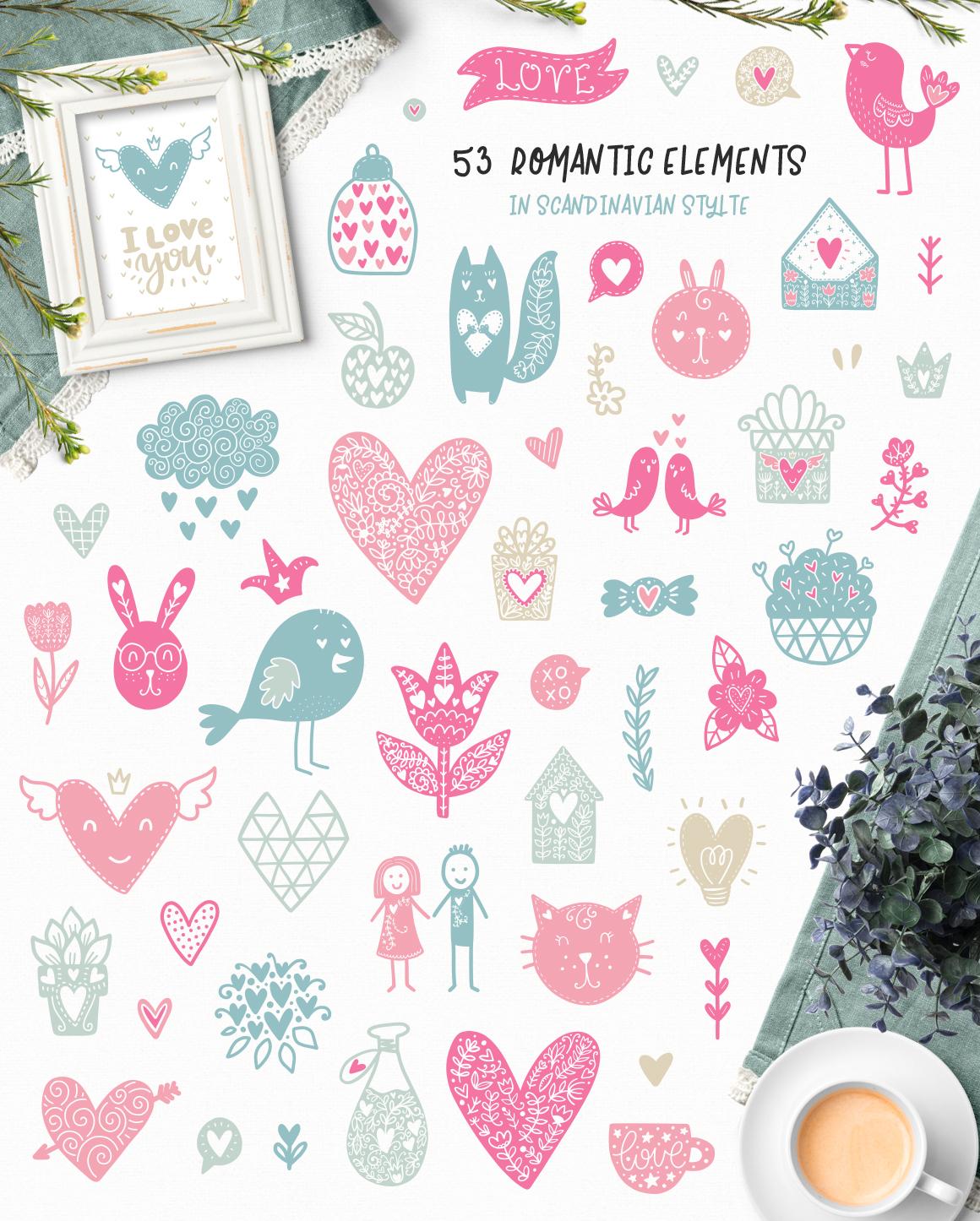 Hello Valentine's Day - Clipart Set! example image 3