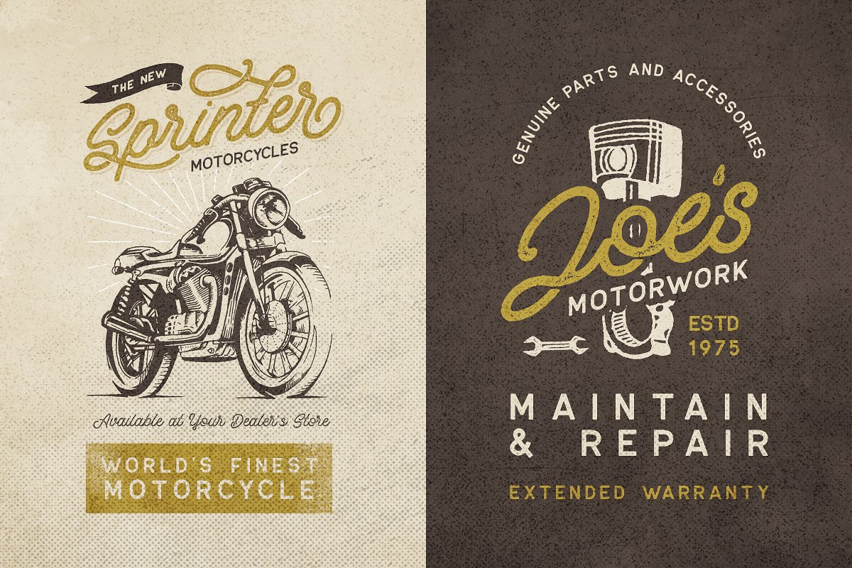 Retrology Monoline & Vector Pack example image 9