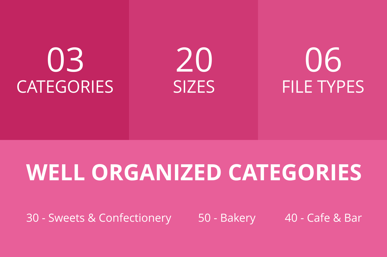 120 Sweets & Bakery Glyph Icons example image 3