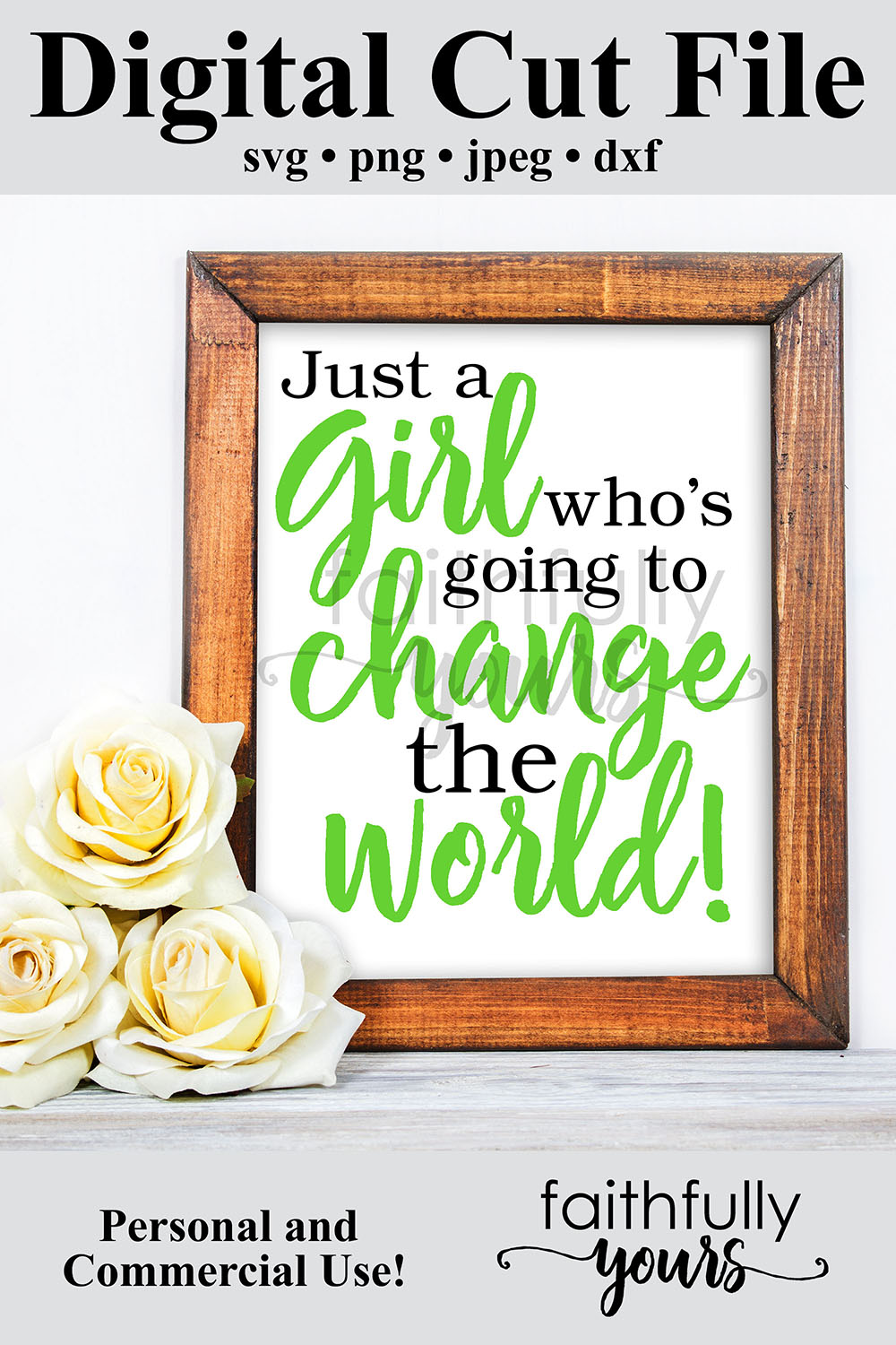 Just a girl who's going to change the world svg digital example image 6