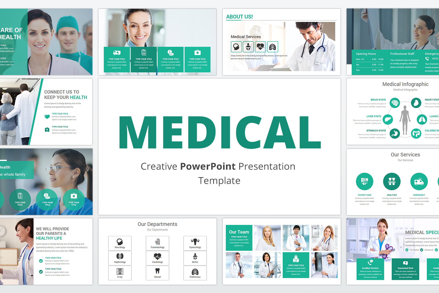 Medical and Healthcare Presentation PowerPoint Template example image 1