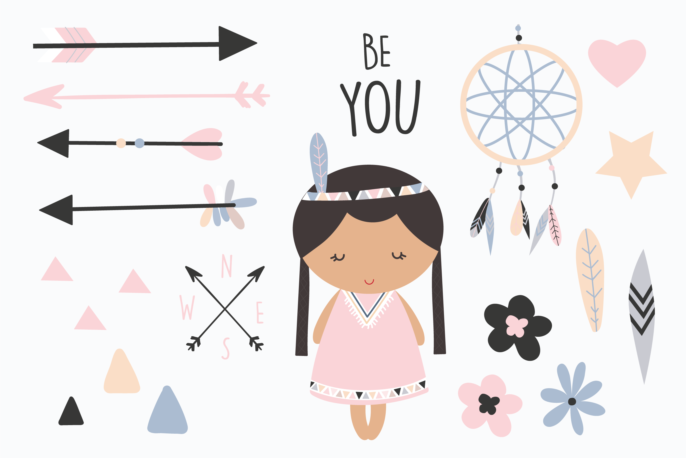 Be You-Tribal girls pack example image 3