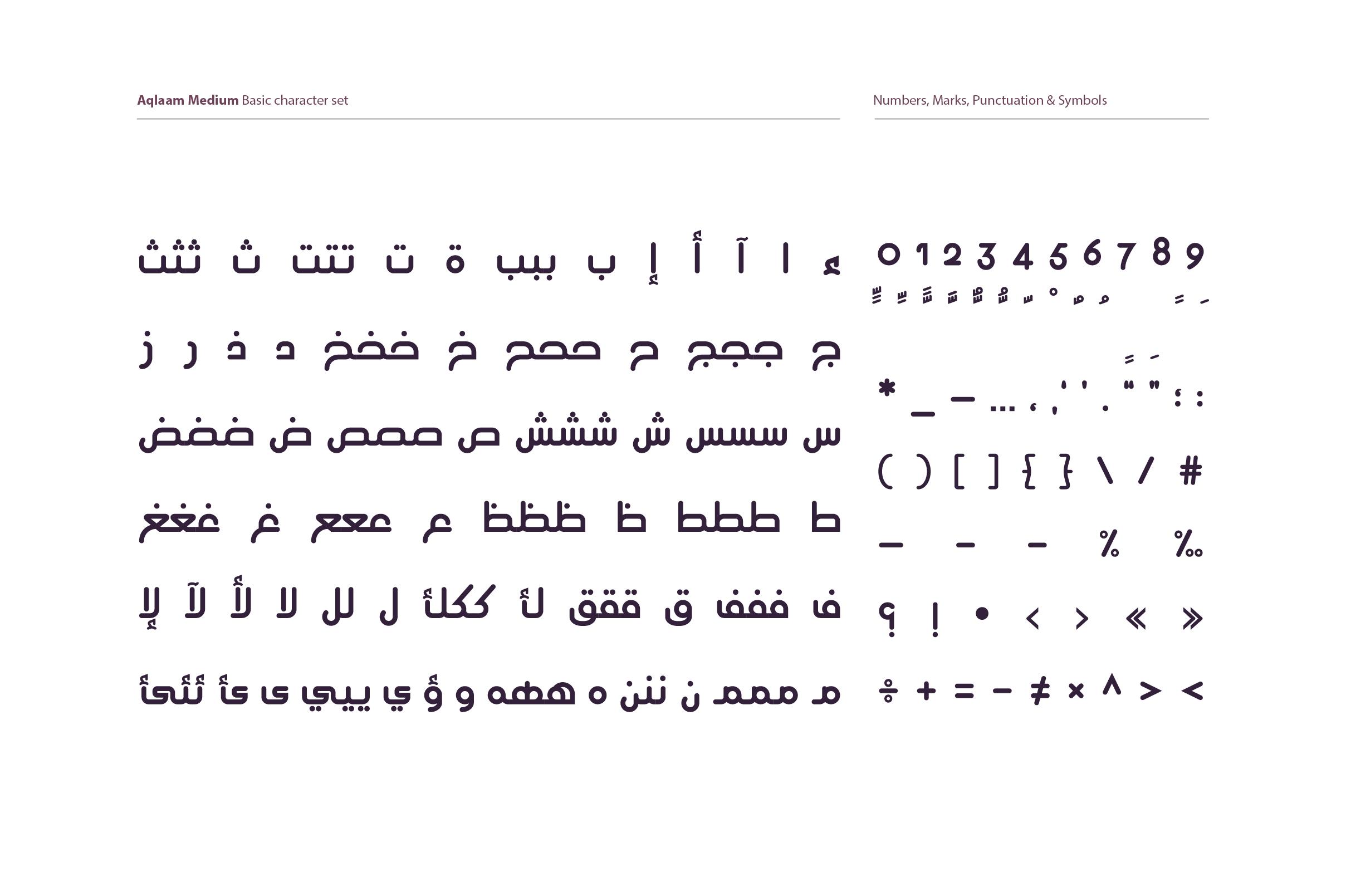 Aqlaam - Arabic Typeface example image 8