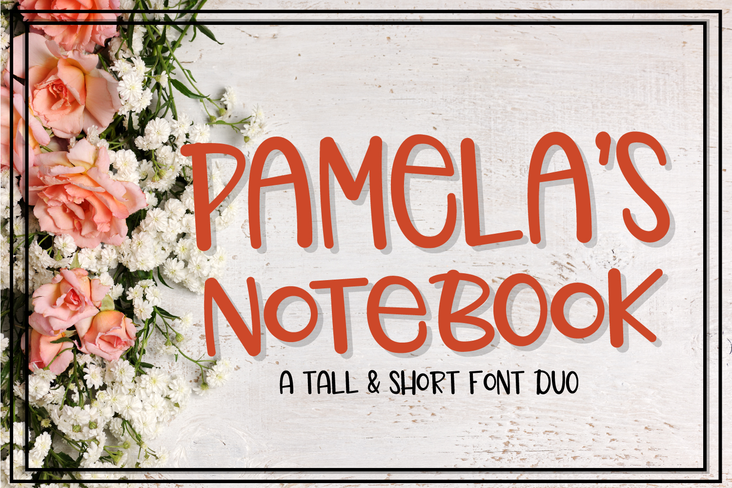 Pamela's Notebook - Font Duo example image 1