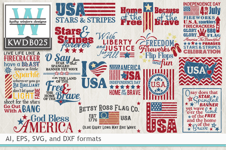 BUNDLED Patriotic Cutting Files KWDB025 example image 1