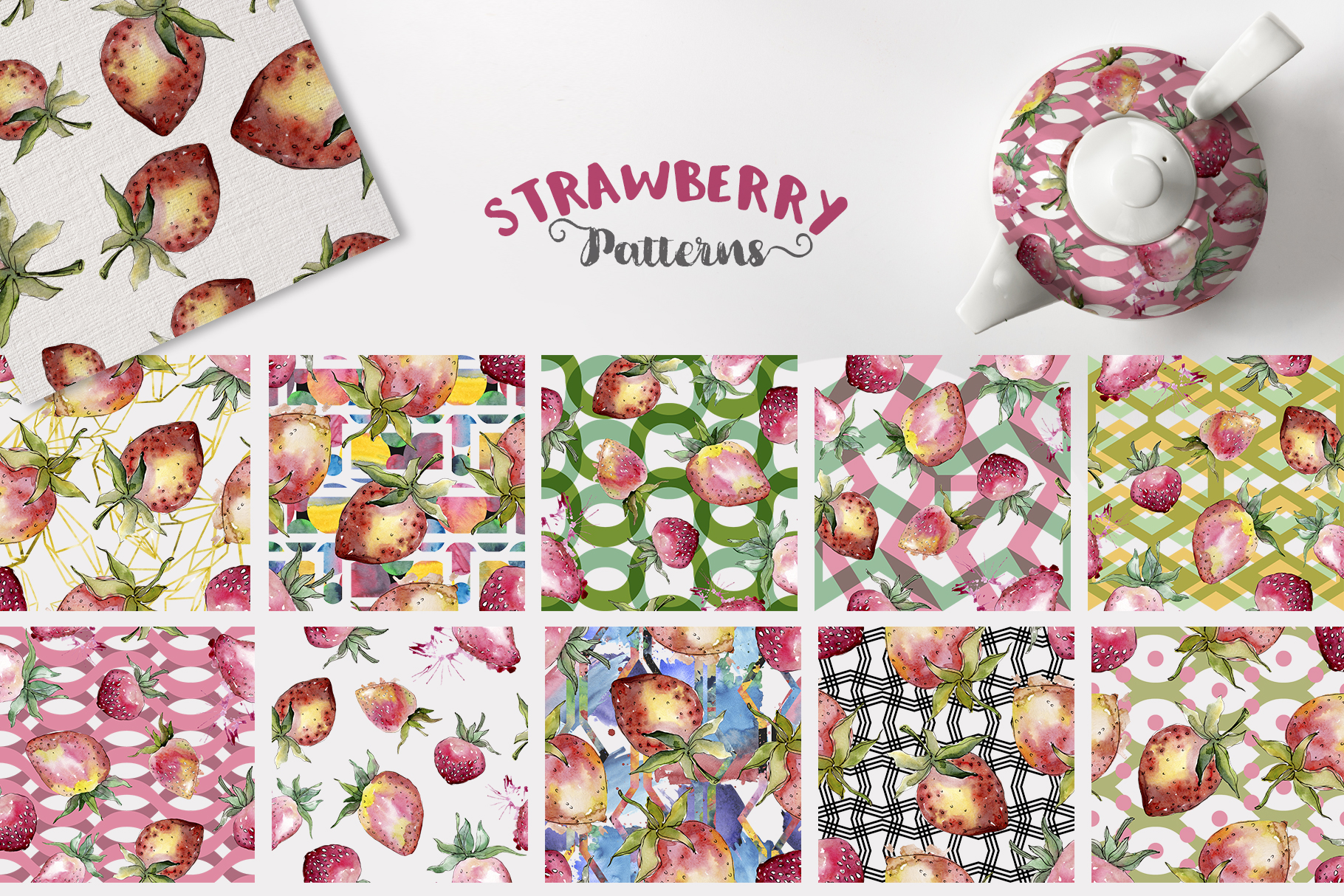 Strawberry Watercolor png example image 4
