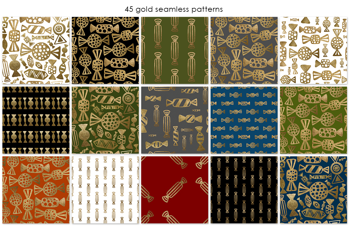 GOLD CANDY patterns set example image 3
