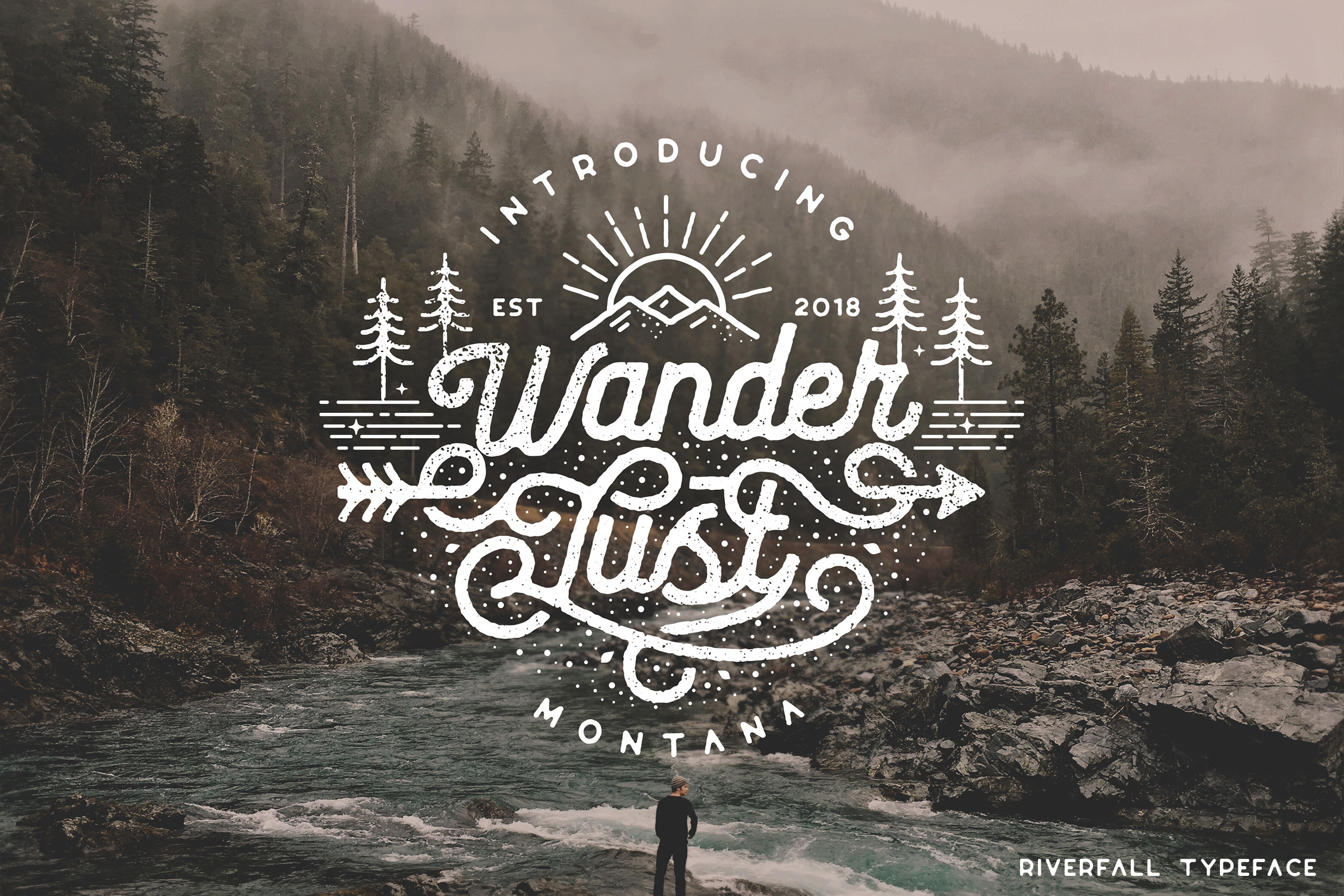 Riverfall Semi Rounded Textured Typeface Ver.2 example image 1