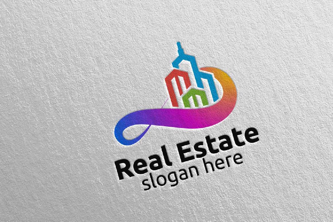 Real Estate Infinity Logo Design 39 example image 2
