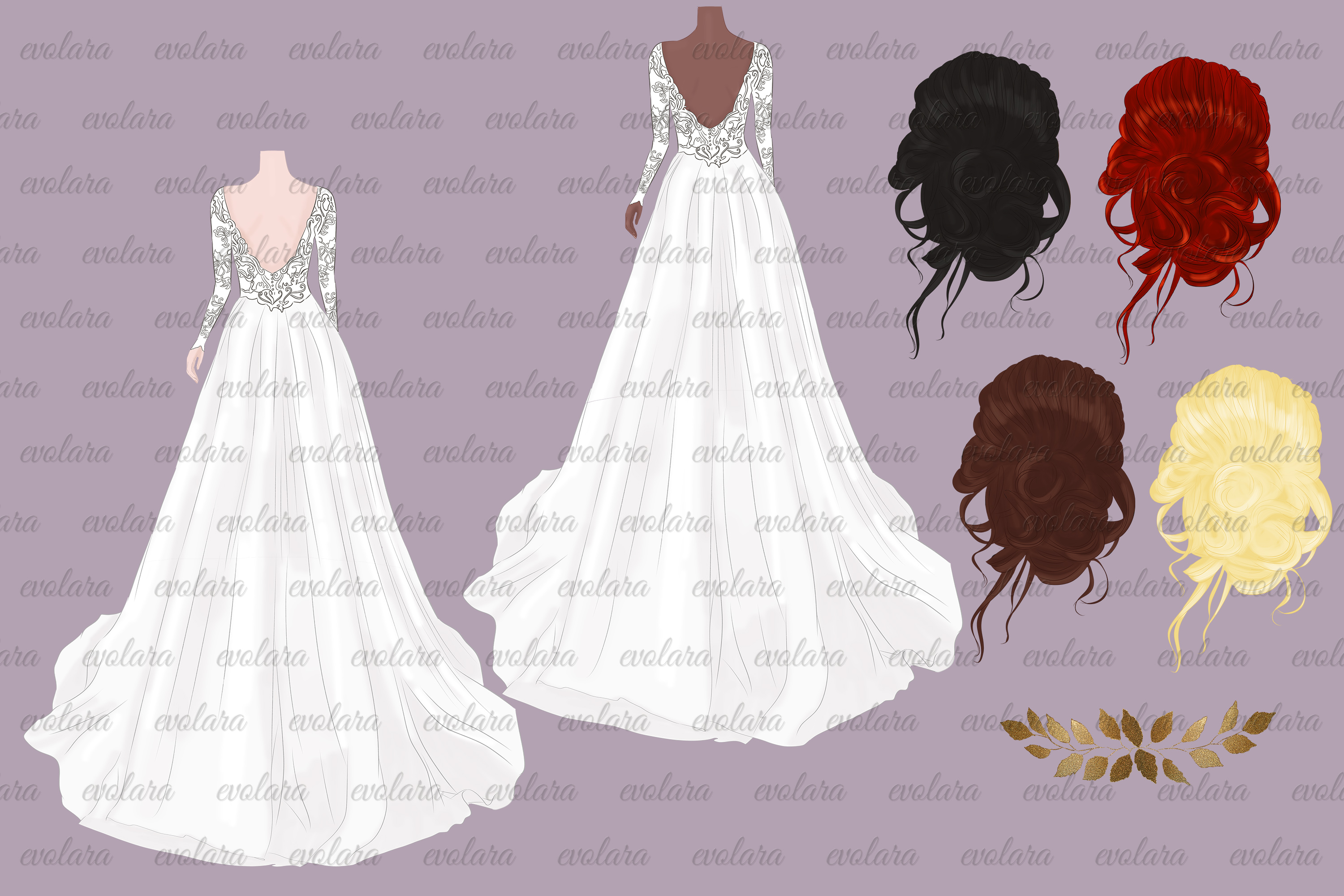 Bride Clipart Wedding Clipart Bride Groom Clipart Bridal example image 2