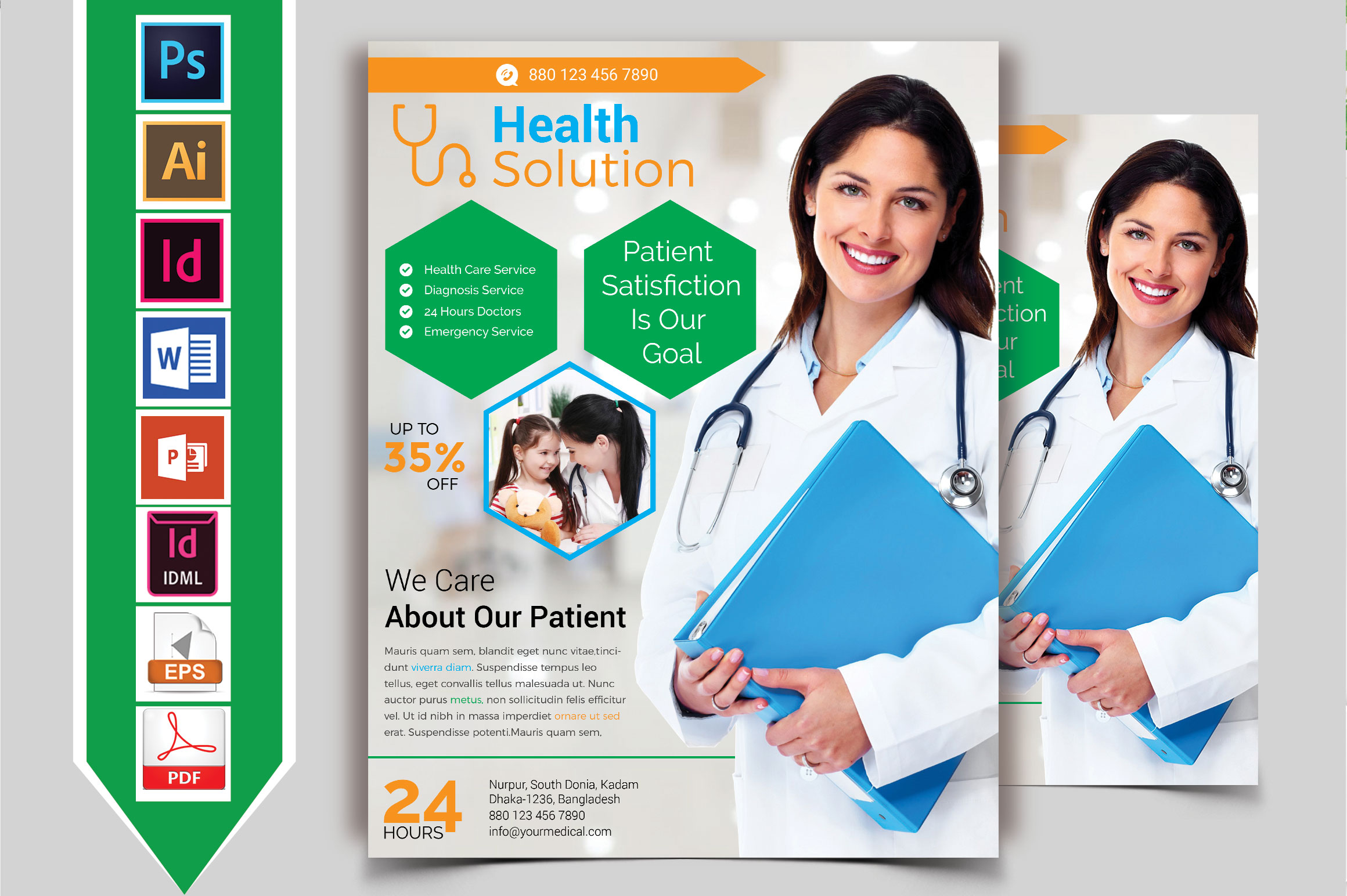 Doctor & Medical Flyer. Vol-07 example image 1
