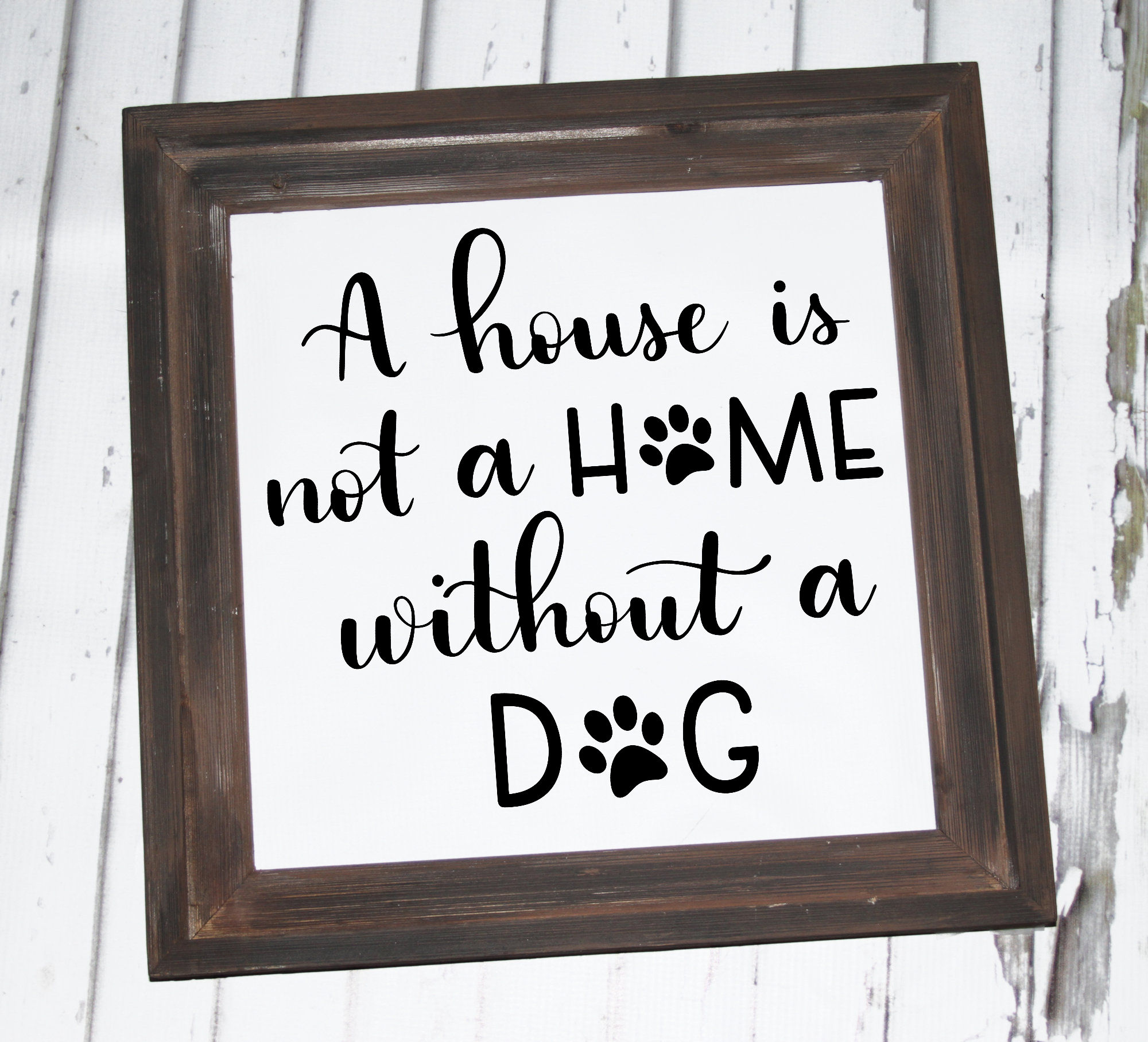 Dog SVG - A house is not a home without a dog, Handlettered example image 2