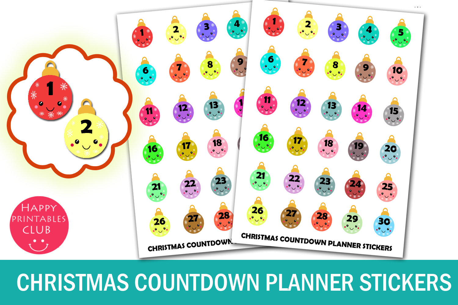 Christmas Planner Stickers Bundle- Holiday Stickers Bundle example image 7