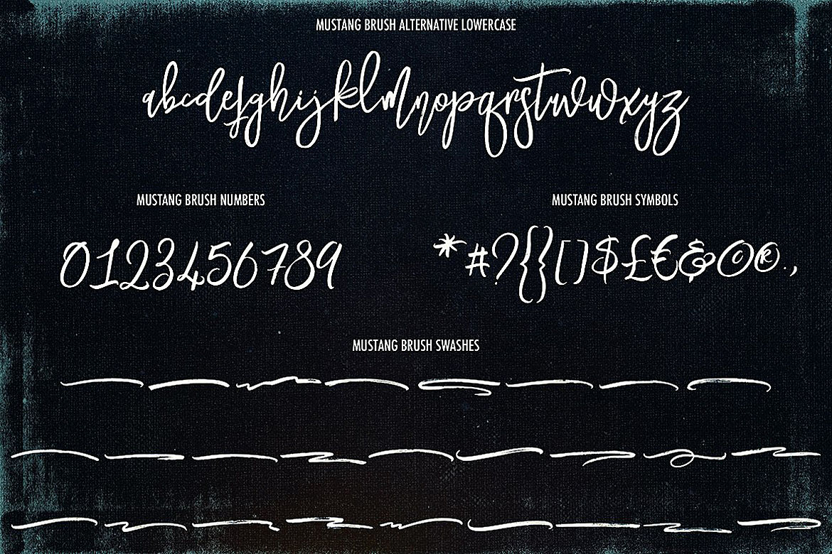 Mustang Brush Font example image 4