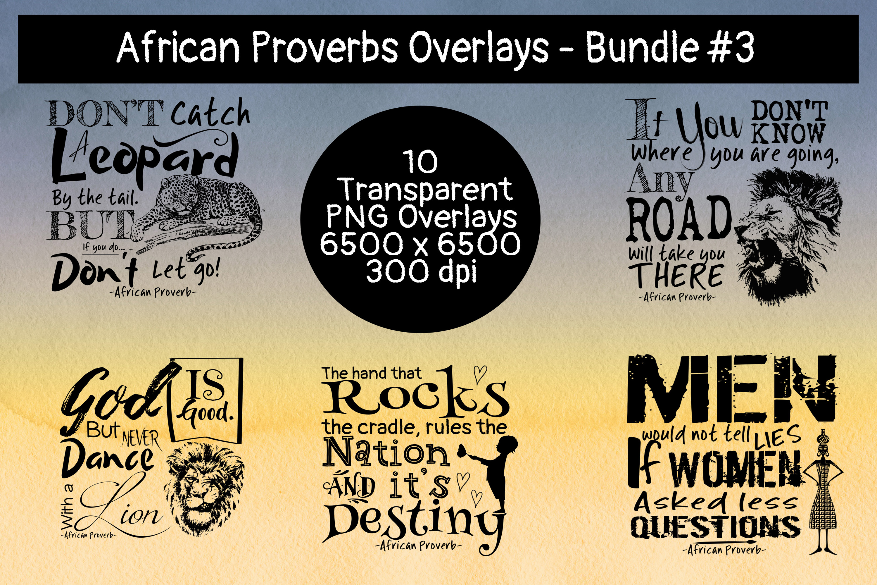 African Proverbs Overlays Bundles #3 example image 2