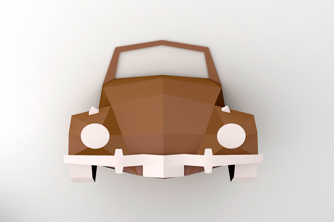DIY Car front - 3d papercraft example image 2