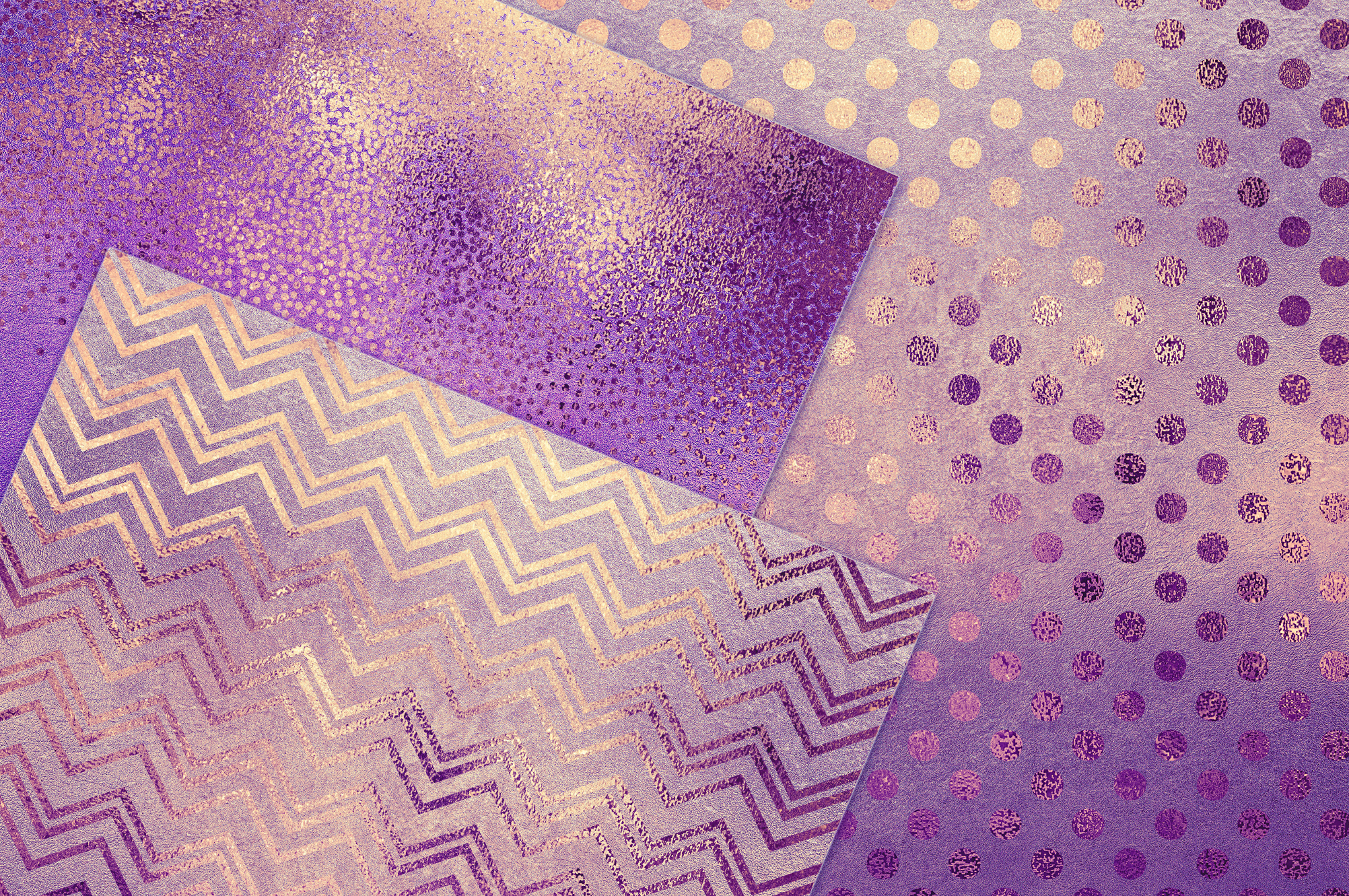 Purple Gold Pattern & Textures example image 2