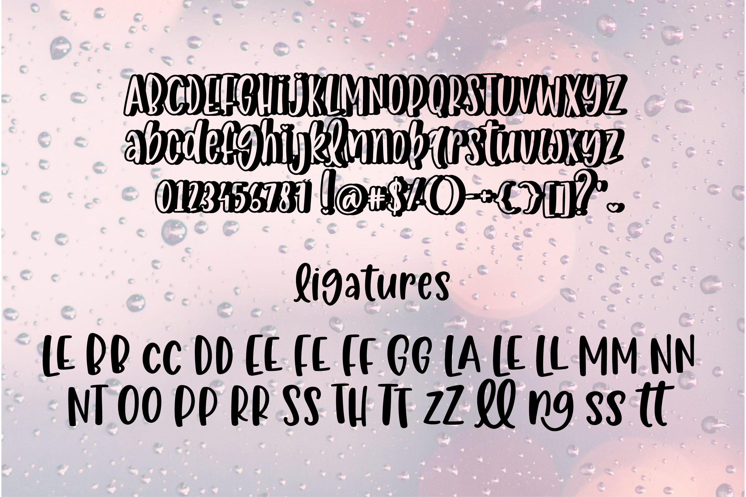 April Rains, one font, two styles, three heights example image 7