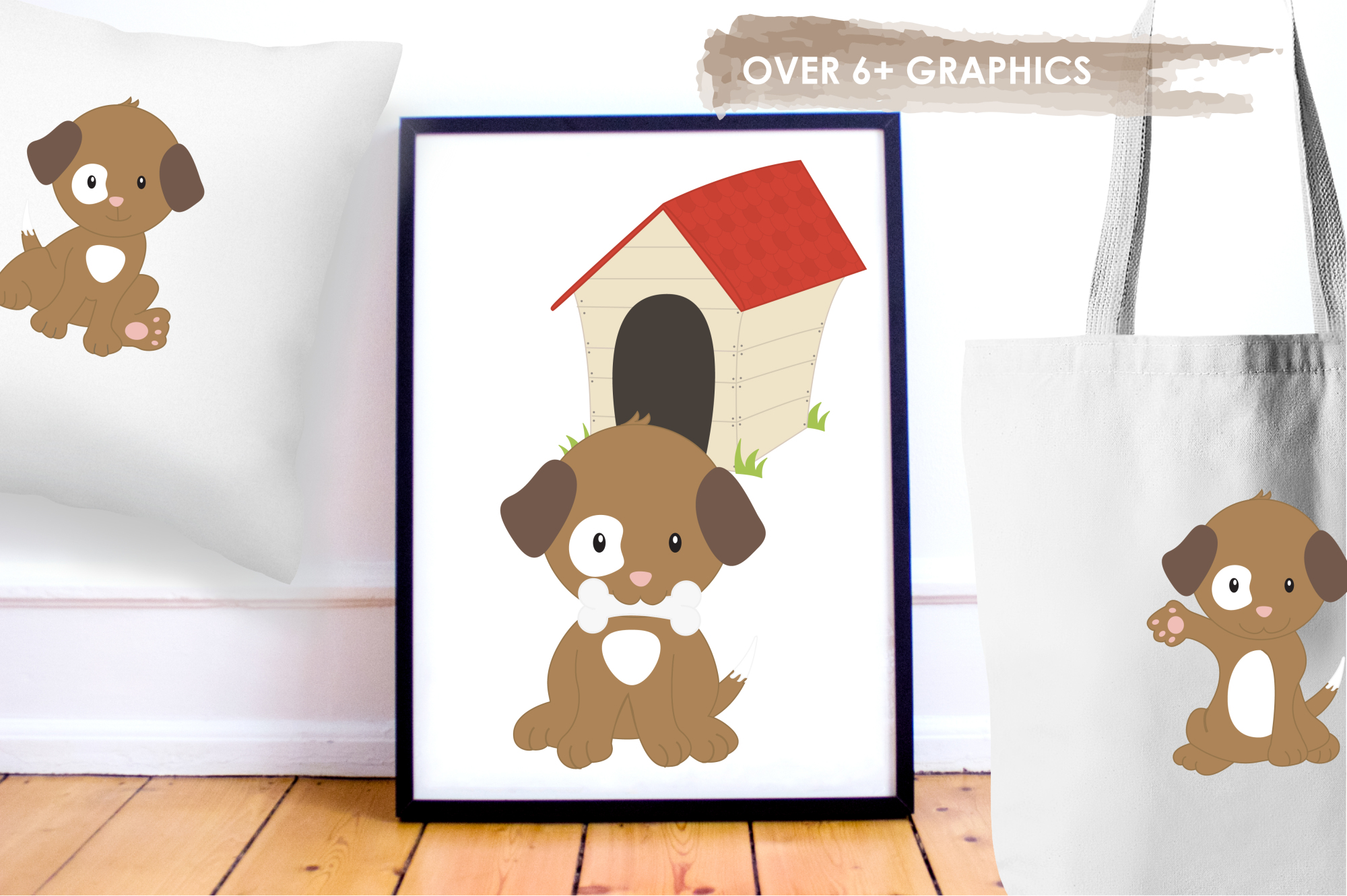 Puppy Playground  graphics and illustrations example image 5