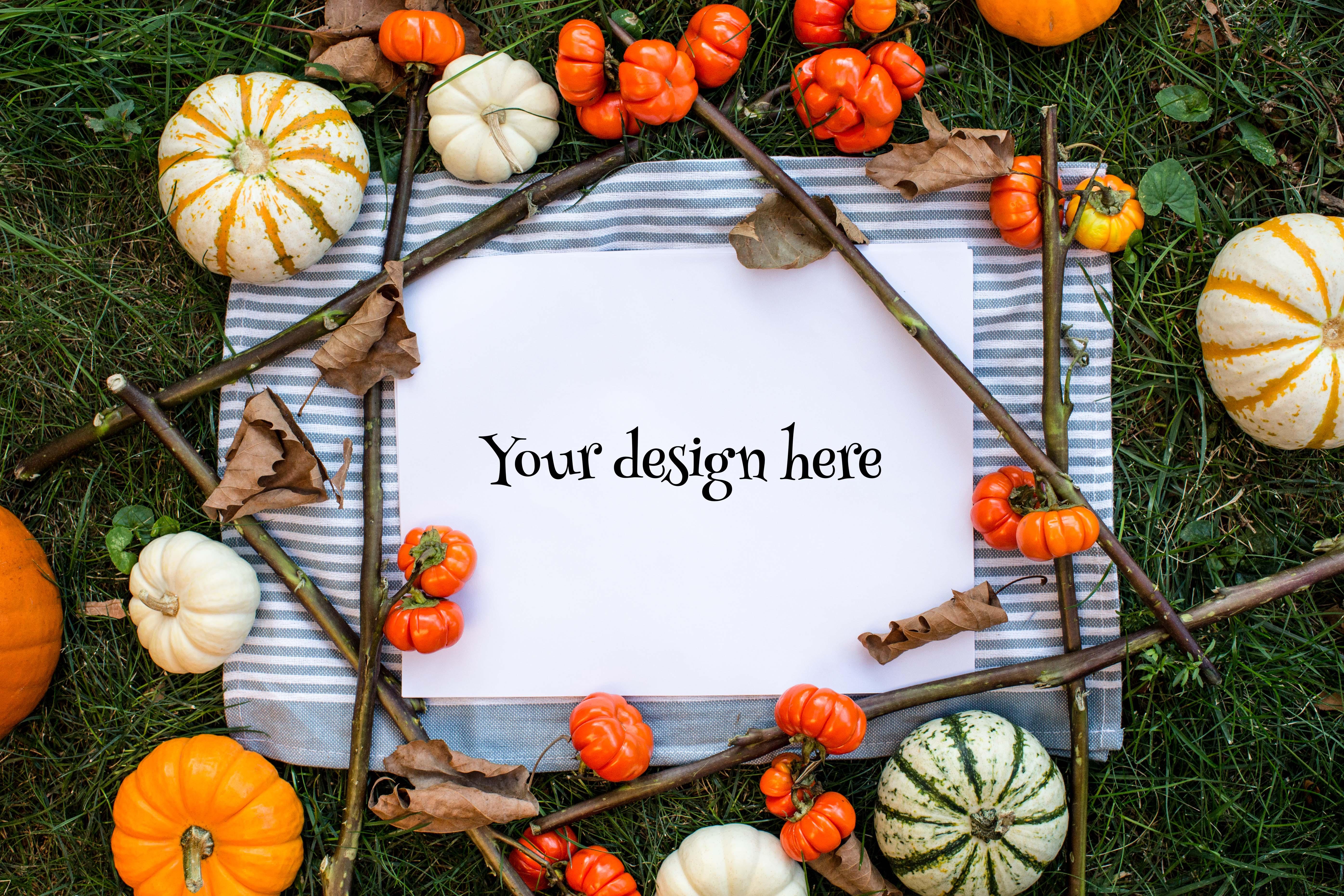 Set from 3 pumpkin mockups example image 4