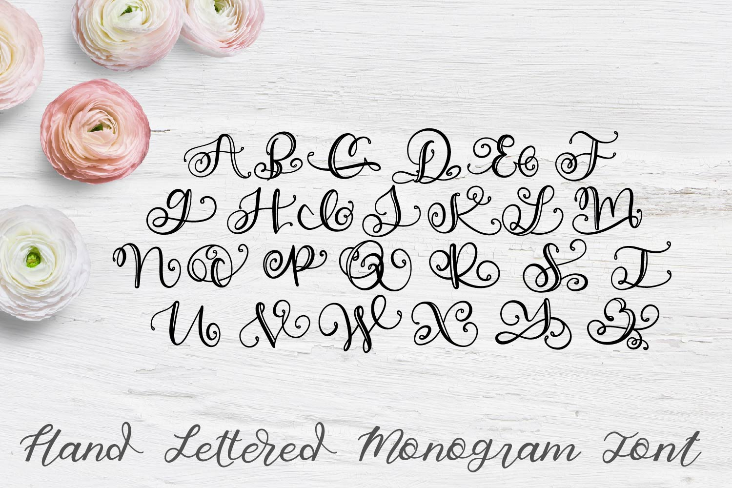 Hand Lettered Monogram Font - Perfect For Personalization! example image 7