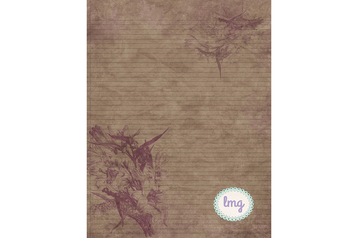 Vintage Linen Journal Papers example image 3