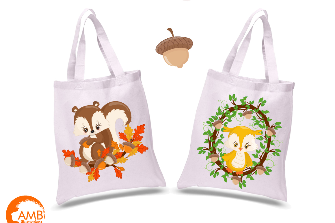 Woodland Critters clipart, graphics and illustrations AMB-1178 example image 3