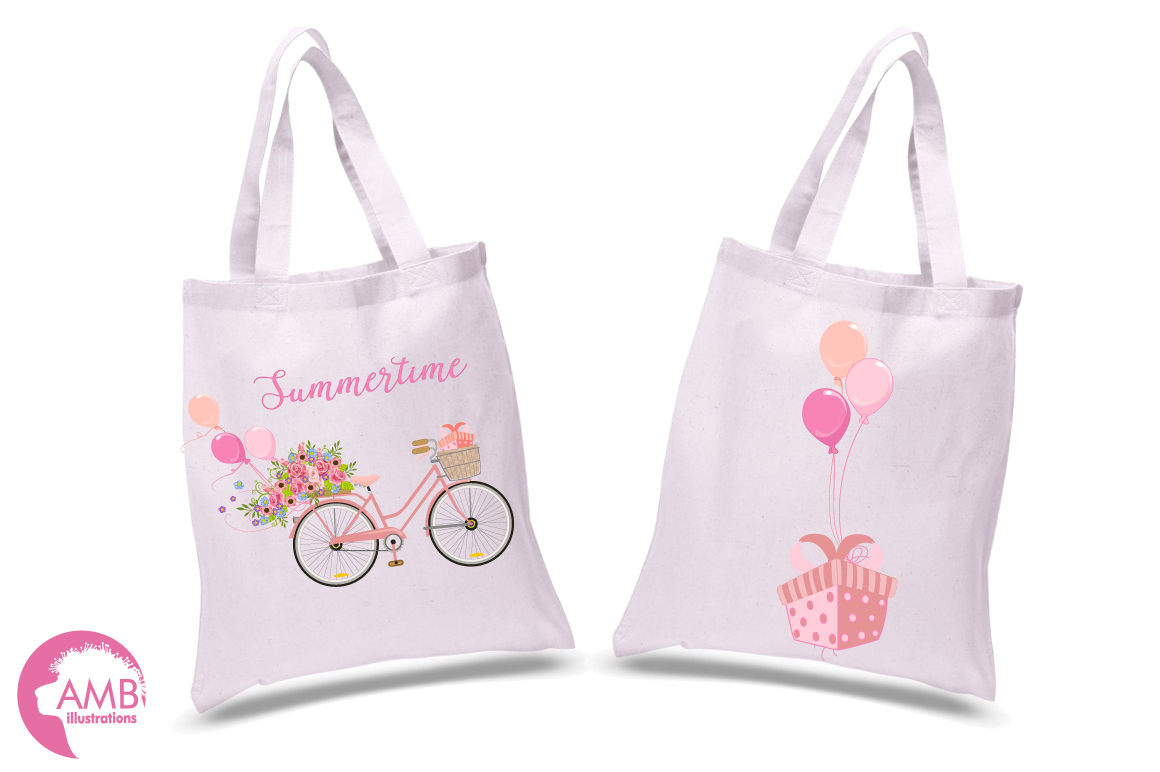 Bicycle in Pink graphics, clipart, illustration AMB-1323 example image 4